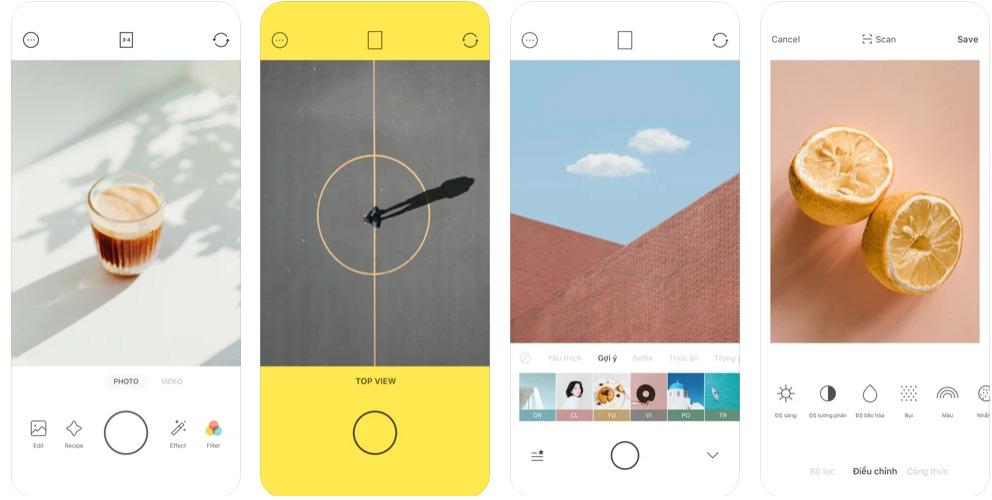 App chụp ảnh đẹp iPhone-Foodie