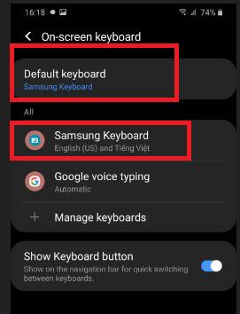 Thêm bàn phím tiếng Việt cho Android từ trình Cài đặt