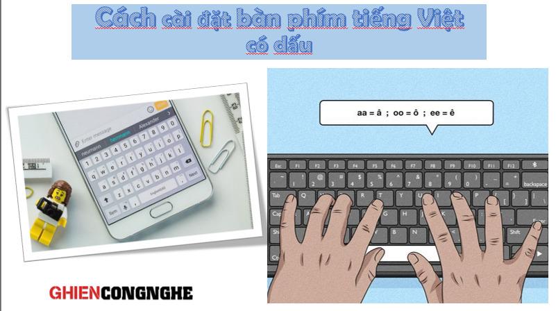 Cách cài đặt bàn phím tiếng Việt có dấu