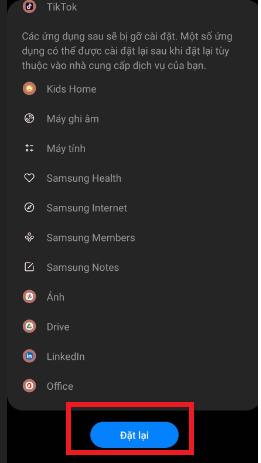 Khôi phục cài đặt gốc Android