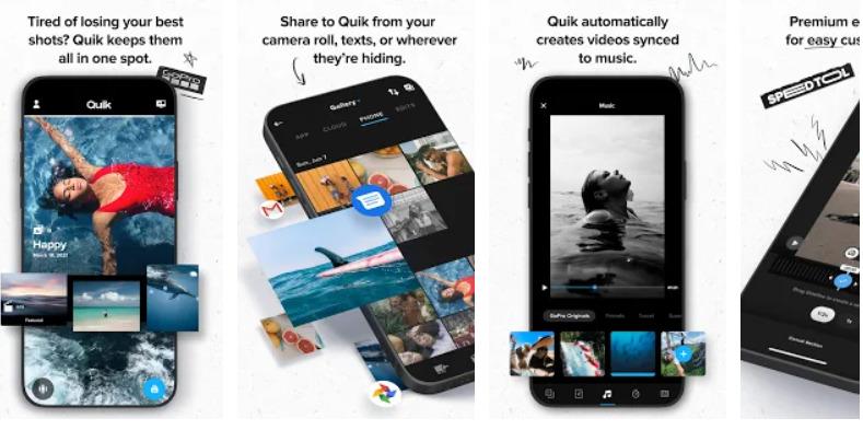 Phần mềm chỉnh sửa video trên điện thoại-Quik
