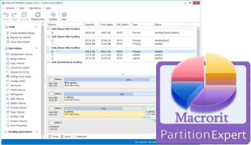 Phần mềm chia ổ cứng-Macrorit Partition Expert