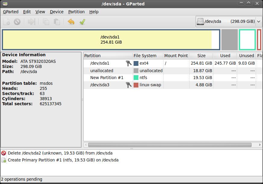Phần mềm chia ổ cứng - GParted