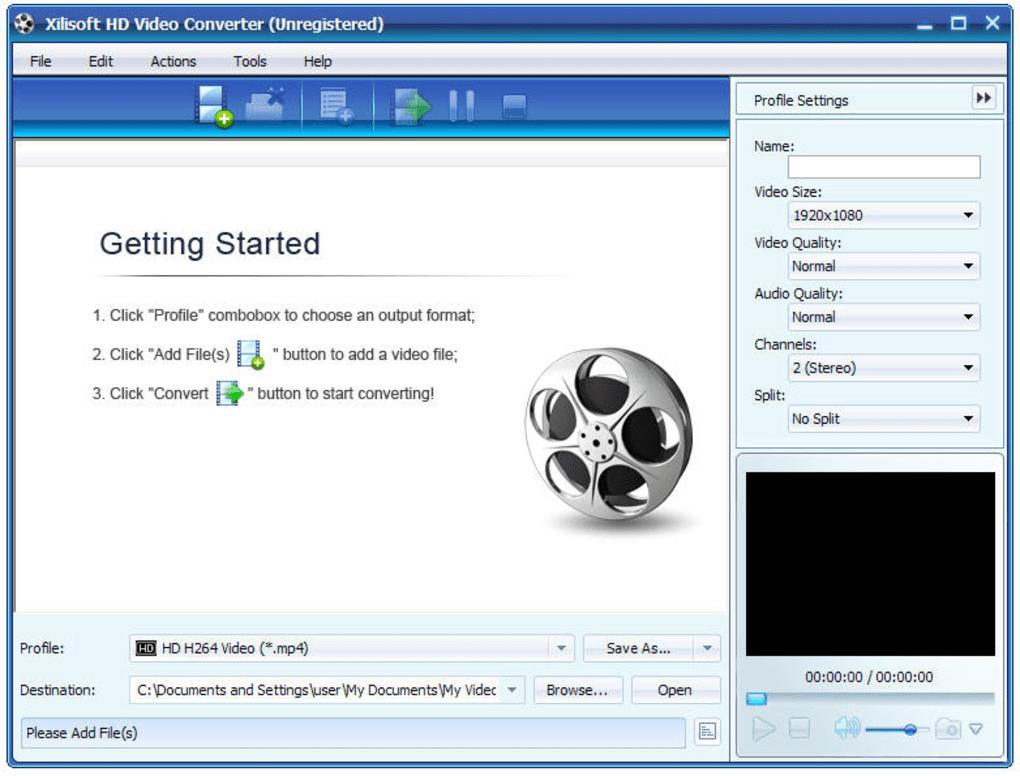 Phần mềm đổi đuôi video - Xilisoft hd video converter