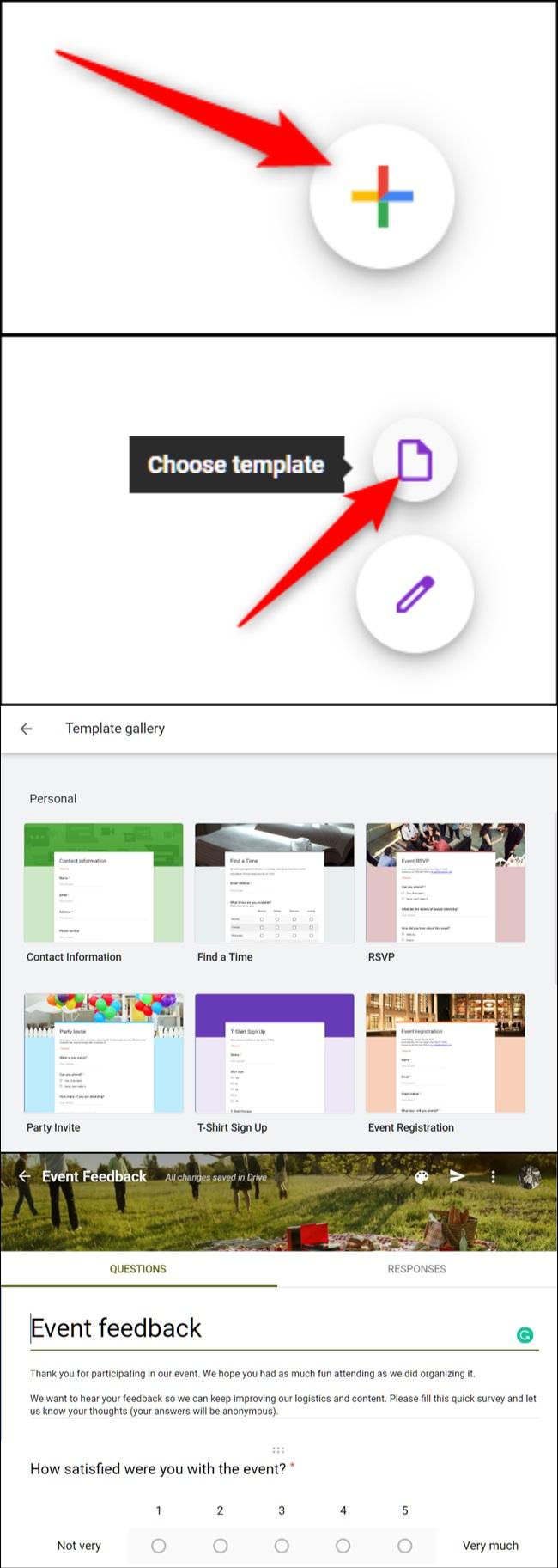 cách tạo Google Form
