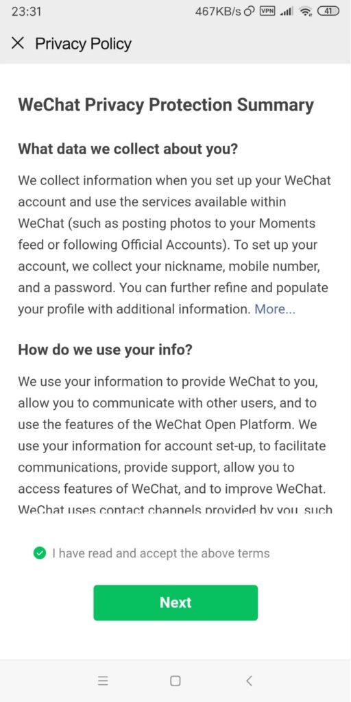 cách đăng ký Wechat không cần quét mã
