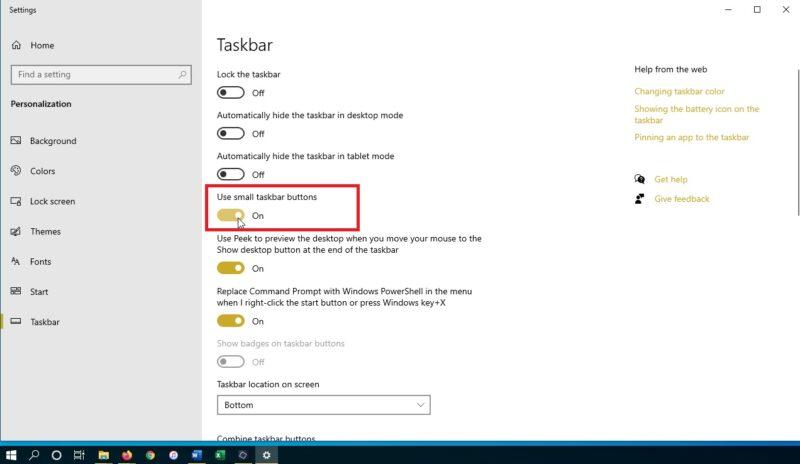 cách chỉnh thanh Taskbar trong Win 10