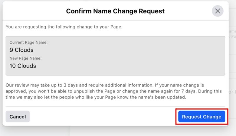 Cách đổi tên Page