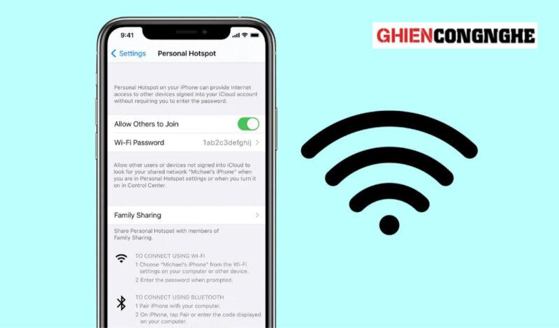 Cách chia sẻ WiFi trên iPhone siêu tốc mà không cần nhớ mật khẩu