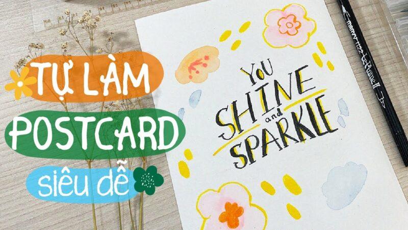 Postcard là gì? Bí mật tạo nên những tấm postcard xinh đẹp tặng người thân.