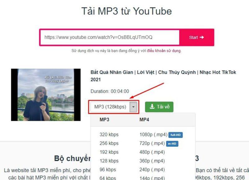 tải nhạc từ youtube
