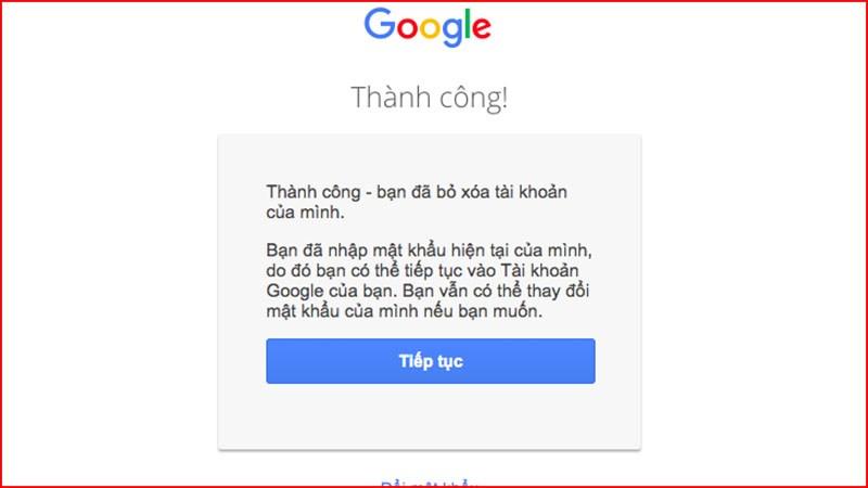 khôi phục tài khoản Google đã xóa
