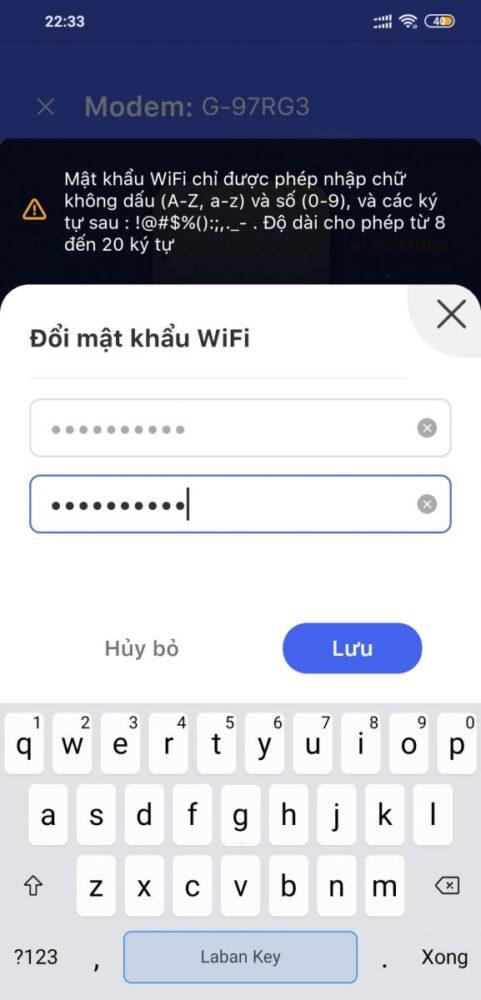 cách đổi mật khẩu WiFi Tenda