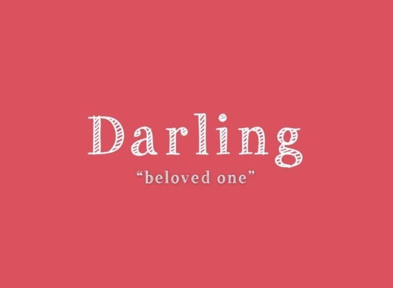 darling nghĩa là gì