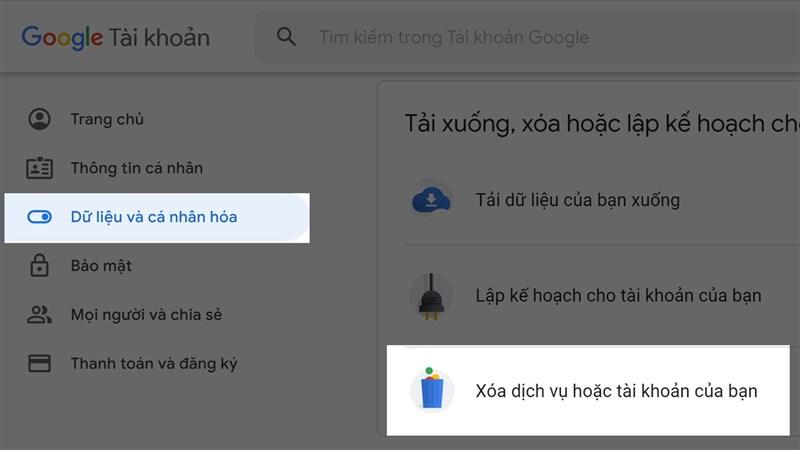 Cách xóa tài khoản Google vĩnh viễn trên máy tính hoặc điện thoại 1