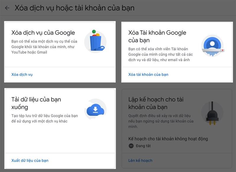 Cách xóa tài khoản Google vĩnh viễn trên máy tính hoặc điện thoại 3