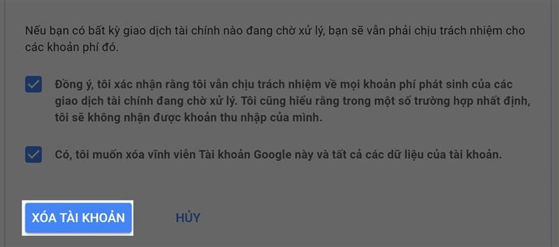 Cách xóa tài khoản Google vĩnh viễn trên máy tính hoặc điện thoại 2