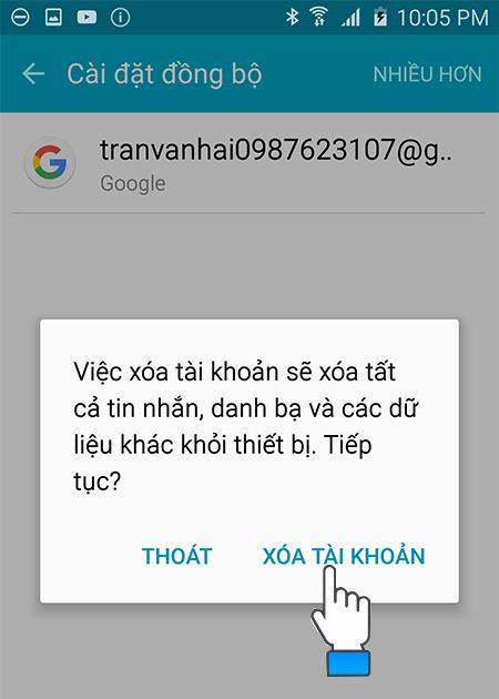 xóa tài khoản Google